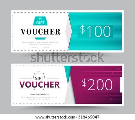 Gift voucher card. business voucher template. vector illustration. - stock vector