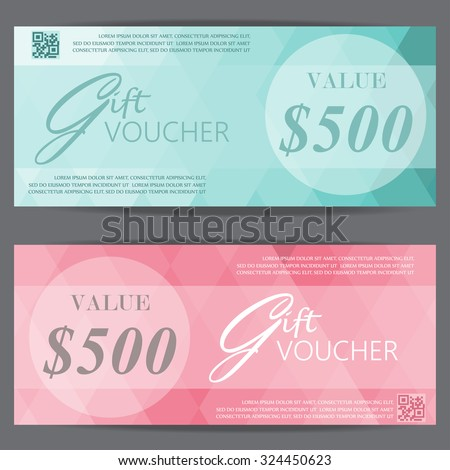 gift voucher certificate coupon template, luxury and premium style design . can be use for business shopping card, customer sale and promotion, layout, banner, web design. vector - stock vector