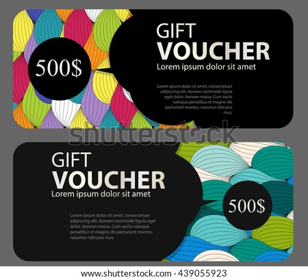 Gift Voucher Template For Your Business. Vector Illustration EPS10 - stock vector