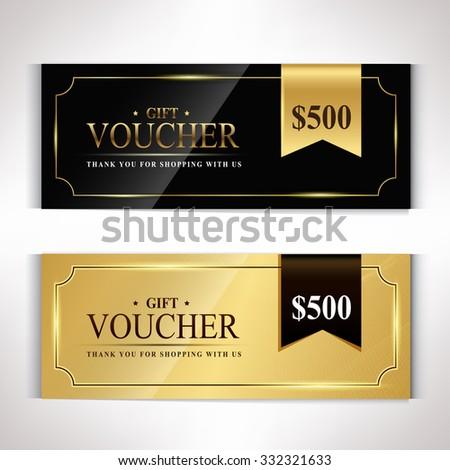 Gift voucher template modern pattern vector design - stock vector