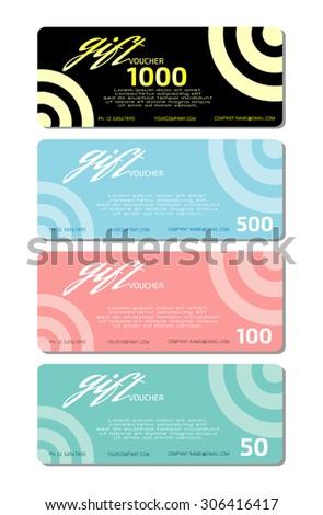 Gift Voucher Template, Voucher Template With Premium Pattern, Gift Voucher  Template With Clean And