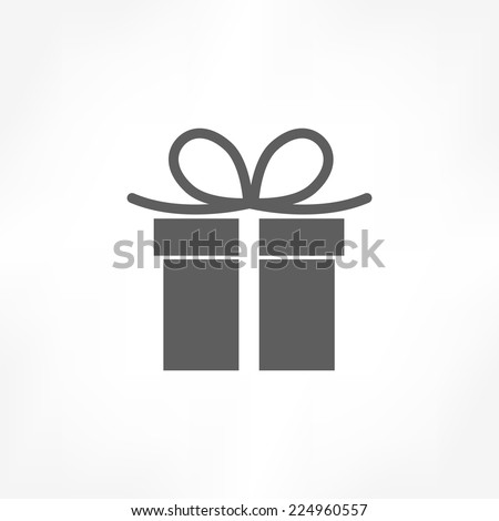 giftbox icon - stock vector