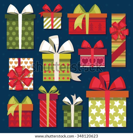 gifts set - stock vector