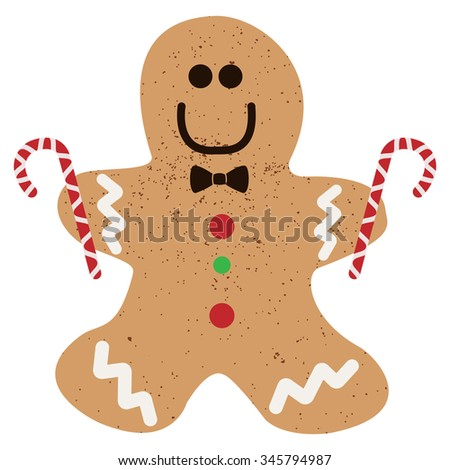 Ginger cookie - stock vector