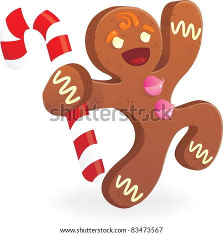 Gingerbread man Stock Photos, Illustrations, and Vector Art