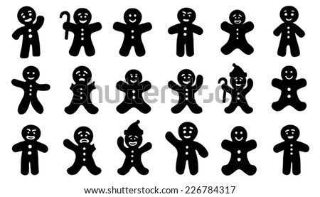 gingerbred man on the white background - stock vector