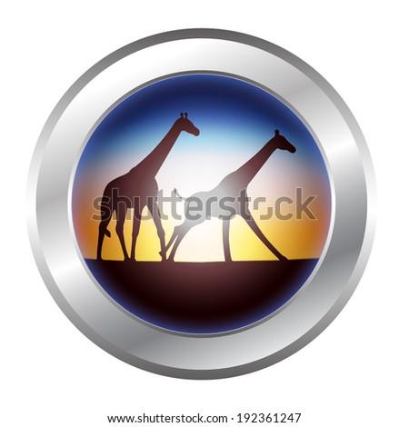 giraffe icon - stock vector