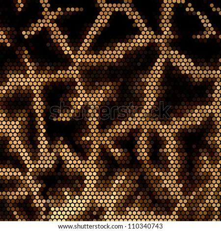 Giraffe mosaic vector background - stock vector