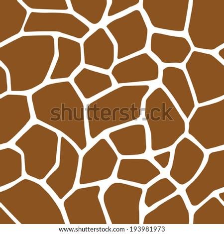 Giraffe Skin Seamless Pattern - stock vector