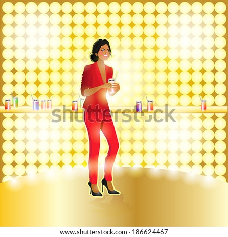 girl - stock vector