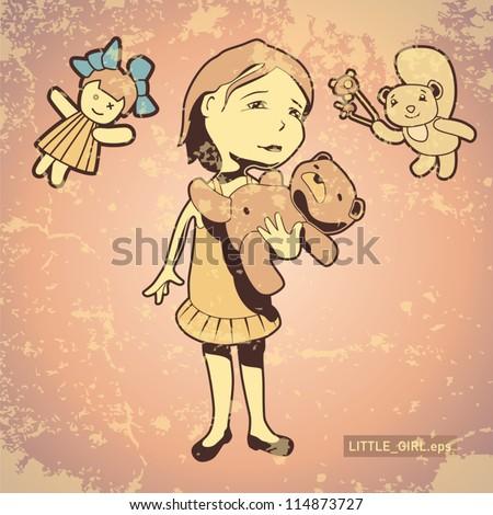 girl heroes characters vector illustration - stock vector
