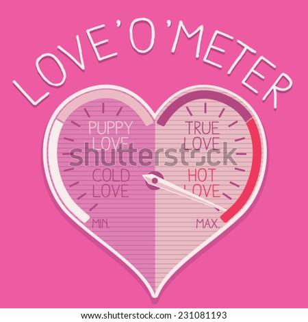 Girl love o meter graphics, t-shirt graphics, vectors - stock vector