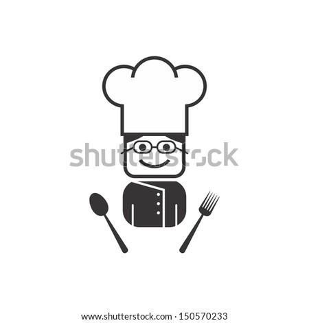 girl with glasses chef - stock vector