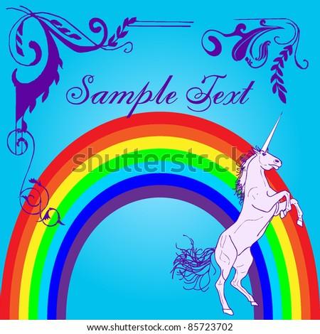 Girly Unicorn Design - stock vector