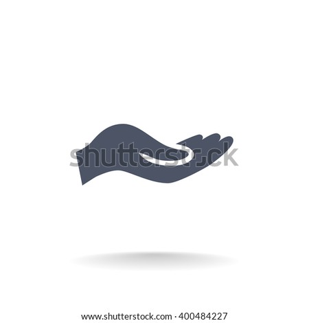 give alms, web icon. - stock vector