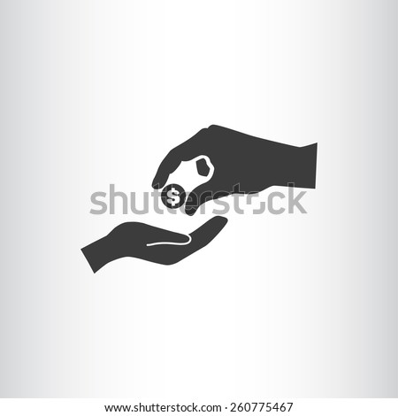 give alms, web icon. vector design - stock vector