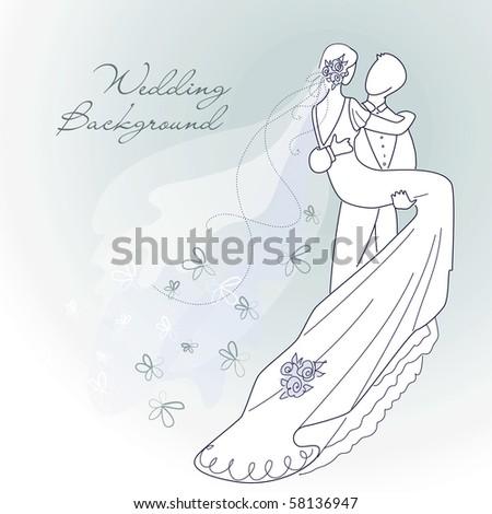 glamorous wedding background - stock vector