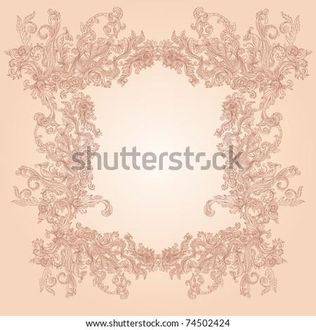 Glamour vector vintage ornate frame - stock vector