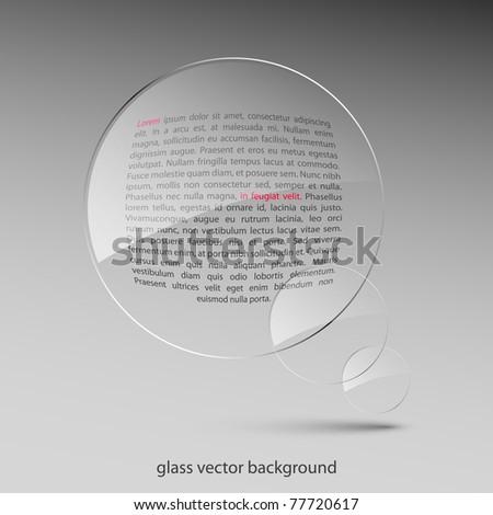 Glass background. Vector illustration. Eps10 - stock vector