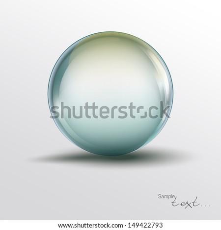 Glass balls, sphere - stock vector