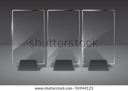 Glass billboard. Vector illustration. Eps10 - stock vector