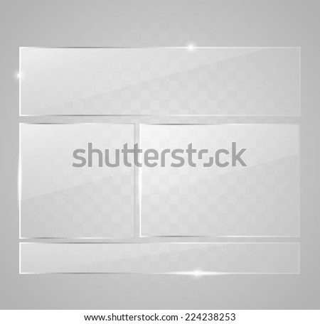 Glass button set vector - stock vector