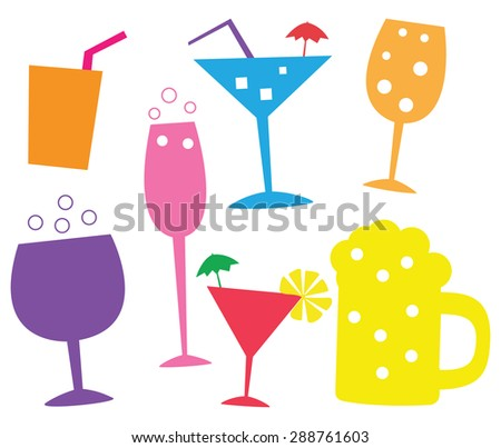 Glass Drink Illustration - stock vector