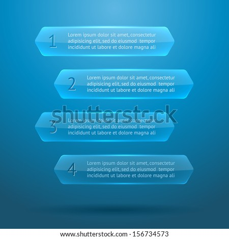 Glass elements of infographics. EPS10 vector illustration. - stock vector