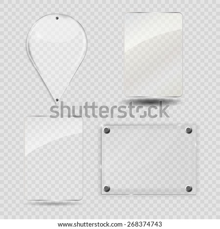 Glass Frame Set. Vector Illustration. EPS10 - stock vector
