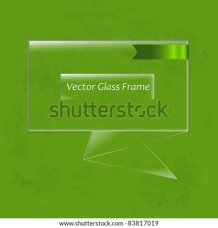 Glass Frame, Vector Illustration - stock vector