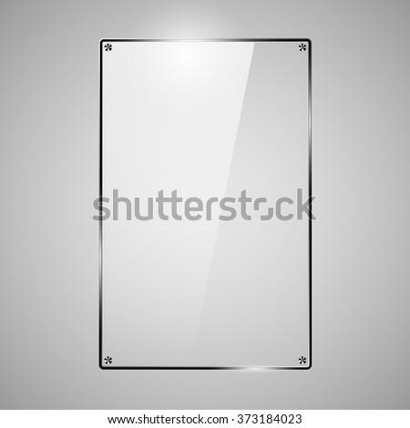Glass Framework, design style modern vector illustration vector Illustration - stock vector