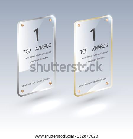 Glass framework set. Transparent glass plates-Vector illustration- infographics-graphic design or web design - stock vector