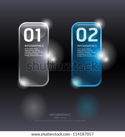 Glass framework set. Transparent glass plates/ Vector illustration/ Suitable for infographics/ graphic design or web design - stock vector
