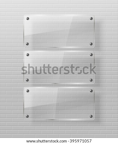 Glass framework Vector illustration. Eps10 - stock vector