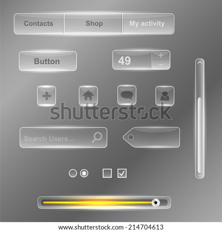 Glass interface - stock vector