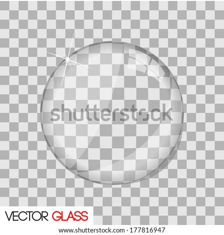 Glass lens vector illustration - stock vector