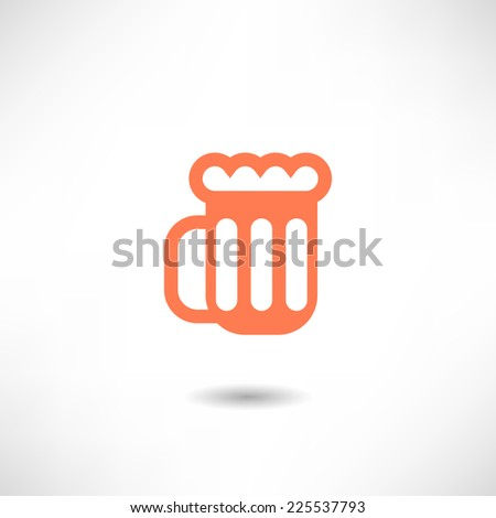 Glass of beer icon - stock vector