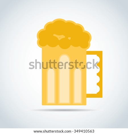 Glass of beer with bubbles full glass  - stock vector