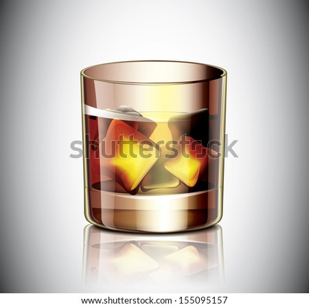 Glass Of Whiskey - stock vector