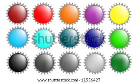 Glass orb color collection - stock vector