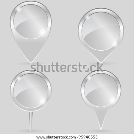 Glass Pointers, vector eps10 illustration - stock vector