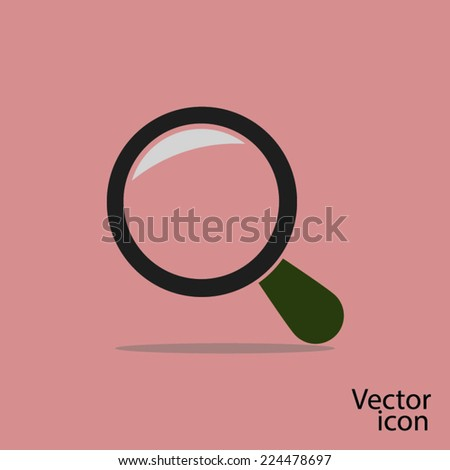 glass sign. Flat design style - stock vector
