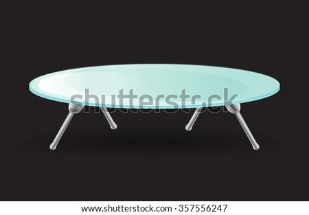 Glass Table  - stock vector