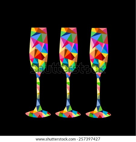 glass vector.  - stock vector