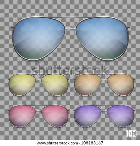 glasses background - stock vector