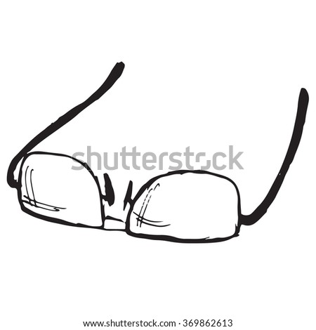 Glasses doodle - stock vector