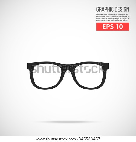 Glasses icon. Modern flat design vector illustration, new trendy high quality abstract concept for web banners, web sites, infographics. Vector icon graphic art isolated on gradient background - stock vector