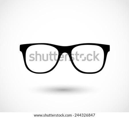 Glasses icon vector - stock vector