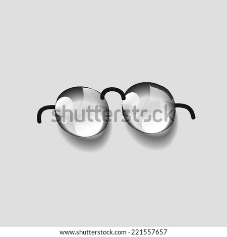 Glasses with transparent , dew water vector - stock vector