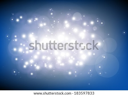 Glitter shine in space vector background  illustration  - Vector abstract blue  shiny   template background - stock vector